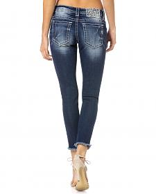 Miss Me Women's Frayed Cuff Skinny Jeans
