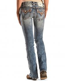 Miss Me Women's Sunset Faux Flap Bootcut Jeans