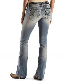 Miss Me Women's Braided Pocket Bootcut Jeans