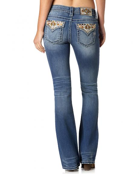 Miss Me Women's Native Crystal Bootcut Jeans
