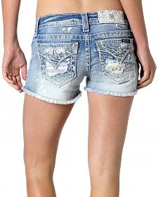Miss Me Women's Stripe a Match Denim Shorts