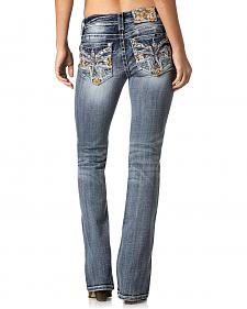 Miss Me Women's Sunset Crossfire Mid-Rise Bootcut Jeans