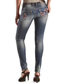 Grace in LA Floral Skinny Jeans