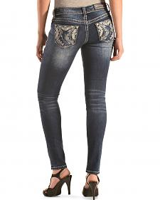 Grace in LA Faded Pyramid Skinny Jeans