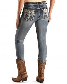 Grace in LA Medium Wash Aztec Mid-Rise Jeans