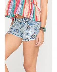 Grace in L.A. Women's Embroidered Pattern Shorts
