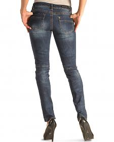 Grace in LA Women's Moto Skinny Jeans