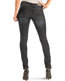 Grace in LA Women's Dark Moto Skinny Jeans