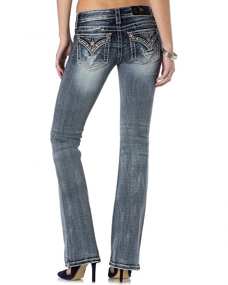 Miss Me Women's Four-Leaf Clover Bootcut Jeans - Extended Sizes