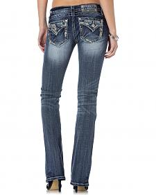Miss Me Women's A Stitch In Time Bootcut Jeans