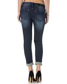 Miss Me Women's Vineyard Vamp Roll Cuff Skinny Jeans