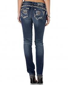 Miss Me Women's Deconstruction Straight Leg Jeans