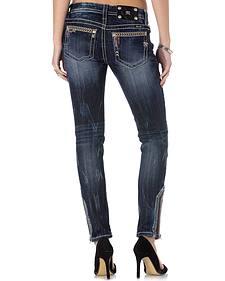 Miss Me Women's Wanderlust Ankle Zip Skinny Jeans