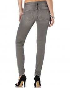 Miss Me Women's Get Ripped Grey Skinny Jeans