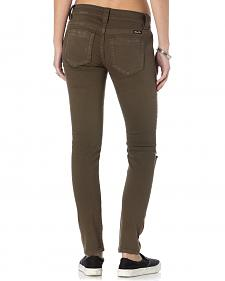 Miss Me Women's Forward March Army Green Skinny Jeans