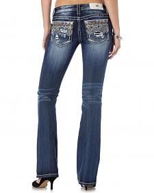 Miss Me Women's Crystal Fusion Jeans - Bootcut