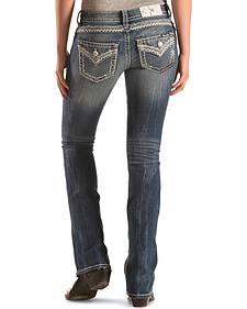 Miss Me Women's Zig Zag Bootcut Jeans
