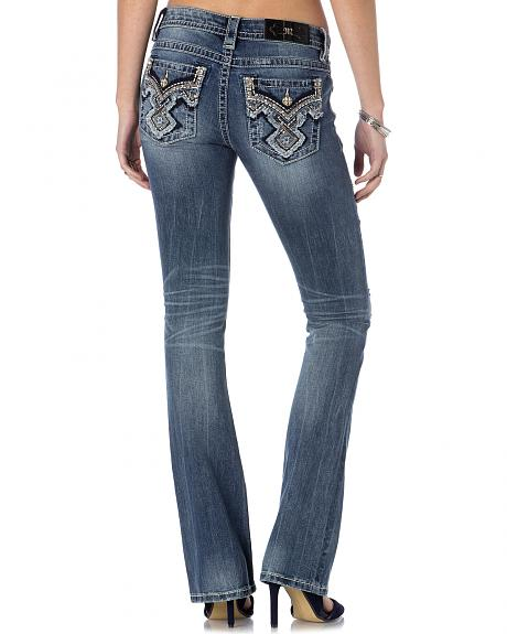 MIss Me Embellished Distressed Jeans - Bootcut