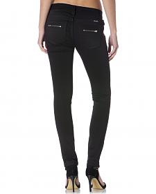Miss Me Women's Black Zip-Up the Ante Skinny Jeans