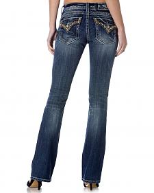 Miss Me Women's Stud and Sequin Bootcut Jeans - Extended Sizes