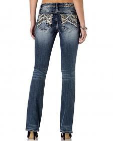Miss Me Women's Cross Pocket Skinny Jeans