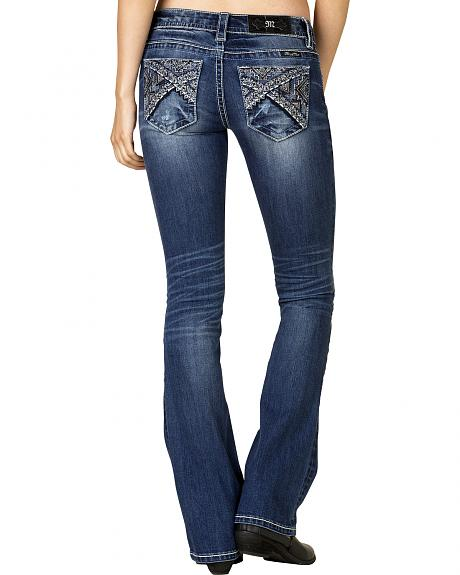 Miss Me Women's Medium Wash Embellished Bootcut Jeans - Extended Sizes