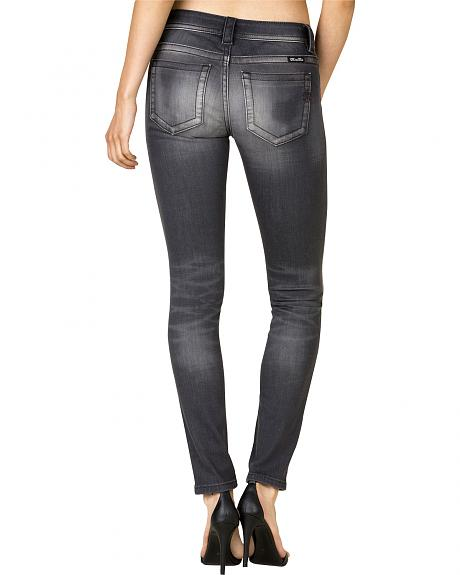 Miss Me Women's Grey Mid Skinny Jeans