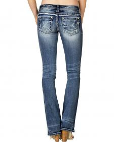 Miss Me Women's Embroidered Slim Bootcut Jeans - Extended Size