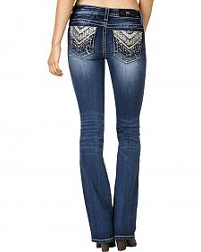 Miss Me Women's Aztec Slim Bootcut Jeans - Extended Size