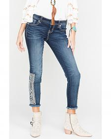 Miss Me Born to Be Boho Ankle Skinny Jeans