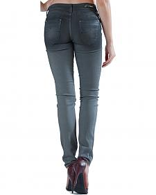 Grace in LA Women's Grey Cast Skinny Jeans