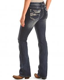 Grace in LA Women's Easy Fit Abstract Bootcut Jeans