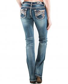 Grace in LA Women's Abstract Bootcut Jeans