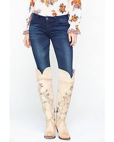 Grace in LA Dark Blue Skinny Jeans