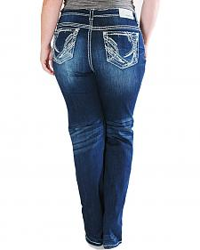 Grace in LA Women's Straight Leg Plus Size Jeans
