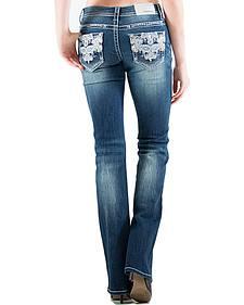 Grace in LA Indigo Wash Jeans - Plus Size