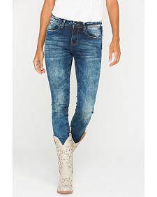 Grace in LA Women's Medium Wash Skinny Jeans
