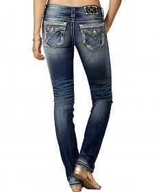 Miss Me Women's Indigo Signature Rise Jeans - Straight Leg