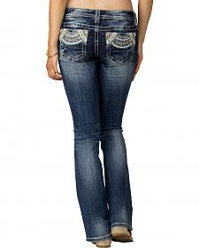 Miss Me Women's Indigo Signature Rise Jeans - Boot Cut