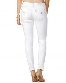 Miss Me Women's White Mid-Rise Jeans - Skinny