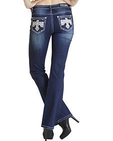 Grace in LA Dakota Dark Wash Bootcut Jeans