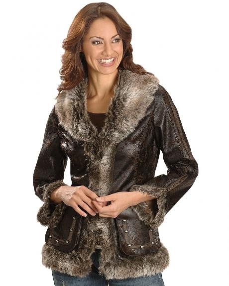 Scully Faux Leather & Fur Jacket