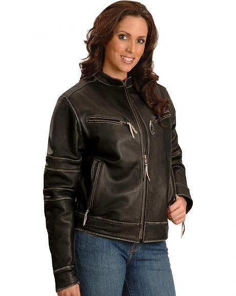 Milwaukee Motorcycle Crazy Horse Leather Jacket