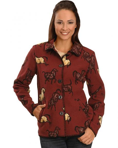 Outback Trading Co. Wild Spirit Horses Fleece Jacket