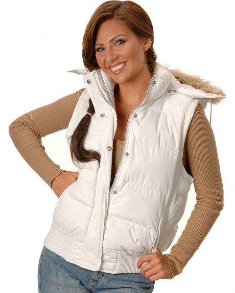 Ely Faux Fur Trimmed Hooded Vest