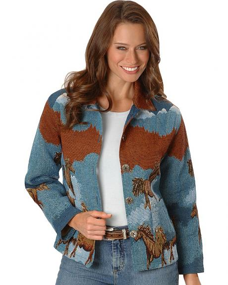 Horse Design Tapestry Jacket