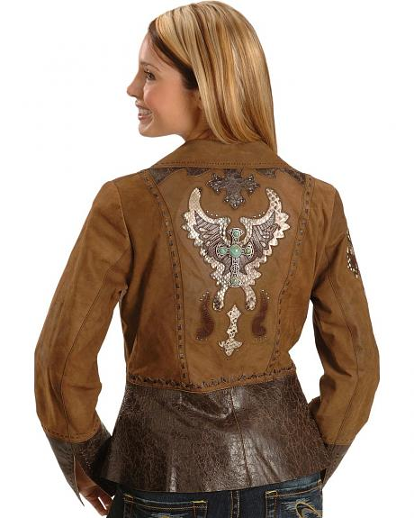 Corral Exotic Inlay Cross Leather Jacket