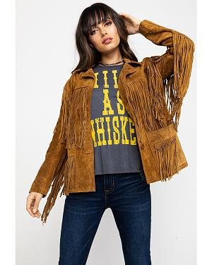 Liberty Wear Fringe Leather Jacket