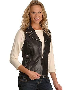 Milwaukee Studded Leather Vest