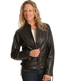 Milwaukee Studded Leather Motorcycle Jacket